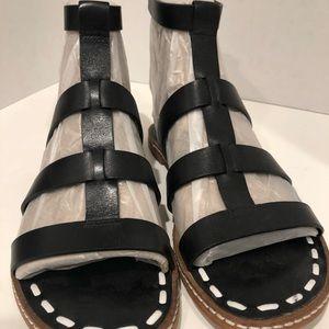 MK Fallon Flat Black Sandal
